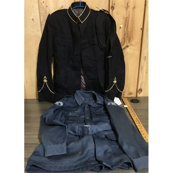 LOT OF TWO MILITARY UNIFORMS - CANADIAN AIR CADETS AND RMC MILITARY COLLEGE