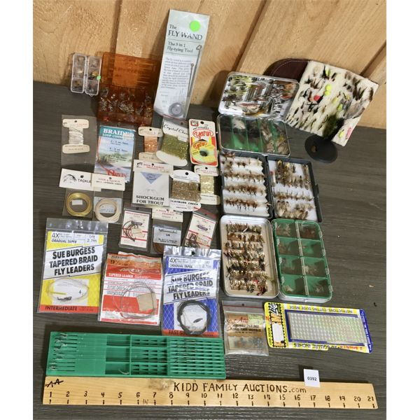 JOB LOT QTY OF FLY FISHING AND FISHING ACCESSORIES