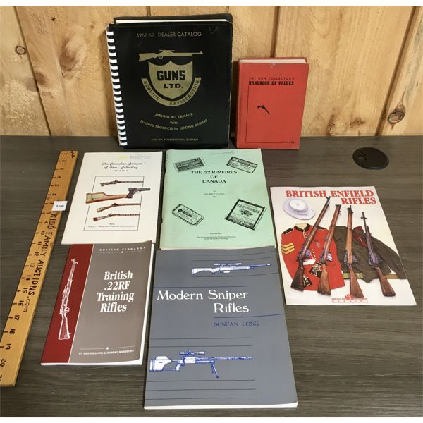 LOT OF 7 - GUN RELATED PUBLICATIONS - INCLUDES 1968-69 DEALER CATALOG
