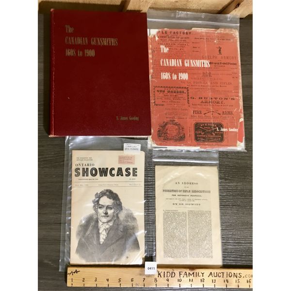 """""""THE CANADIAN GUNSMITHS"""" MUSEUM RESTORATION SERVICE BOOK AND RELATED PUBLICATIONS"""