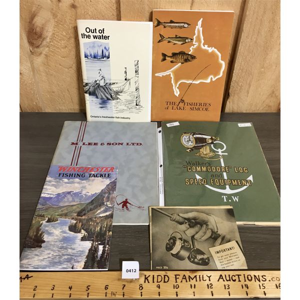 LOT OF 6 - MISC FISHING, TACKLE AND MARINE CATALOGS