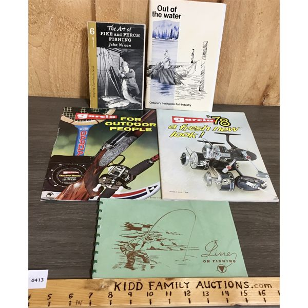 LOT OF 5 - MISC FISHING, TACKLE AND MARINE CATALOGS