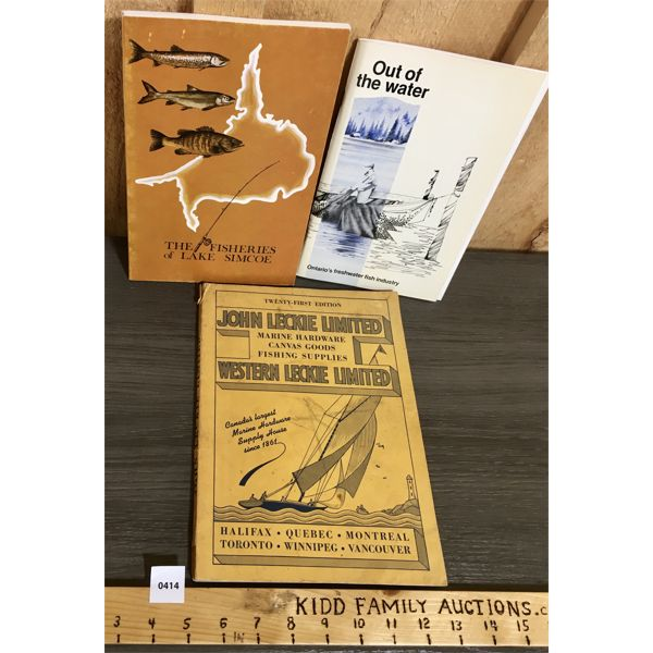 LOT OF 3 - MISC FISHING, TACKLE AND MARINE CATALOGS