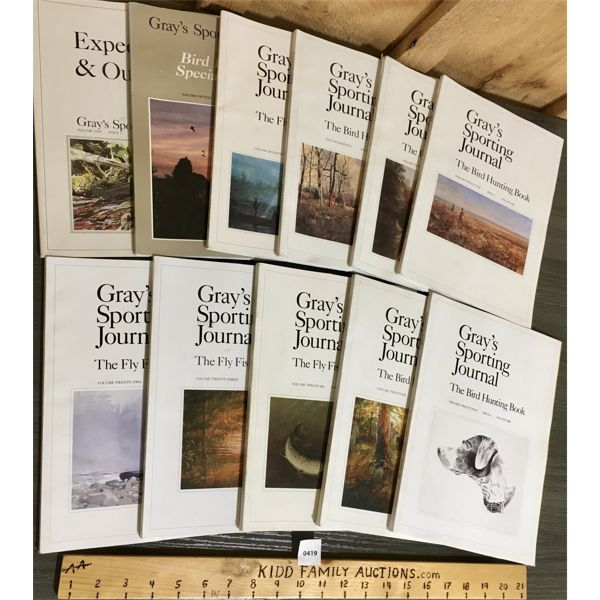 LOT OF 11 - GRAY'S SPORTING JOURNAL MAGAZINES