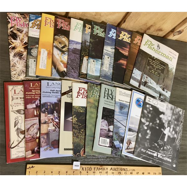 """LOT OF 21 -  14 """"FLY FISHERMAN"""" MAGAZINES AND ASSORTED MAGAZINES"""