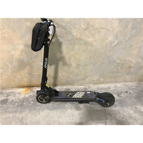 BLACK APOLLO SCOOTER WITH CHARGER (FRONT RIM BROKEN)