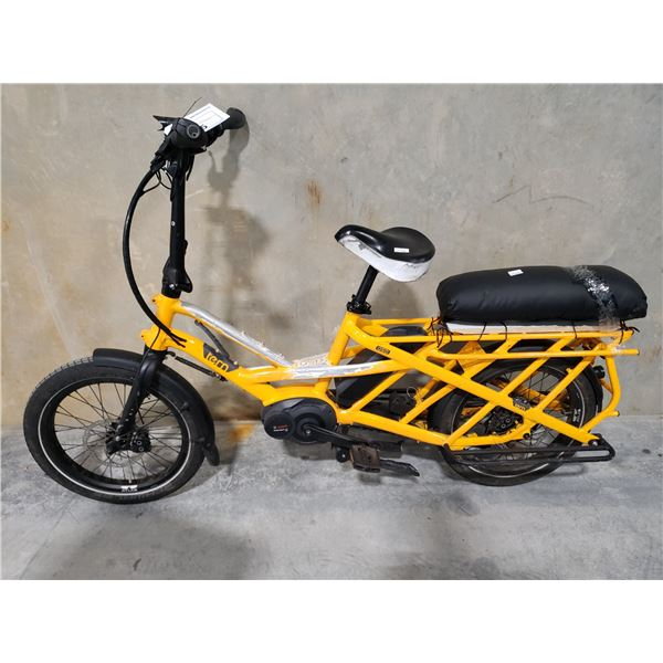 """YELLOW TERN GSD SINGLE SPEED, 17"""" FRAME, FULL DISC BRAKES ELECTRIC BIKE (NO KEY, NO CHARGER)"""