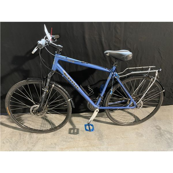 BLUE KONA DEW RS, 27 SPEED FRONT SUSPENSION HYBRID STYLE ROAD BIKE WITH FULL DISC BRAKES