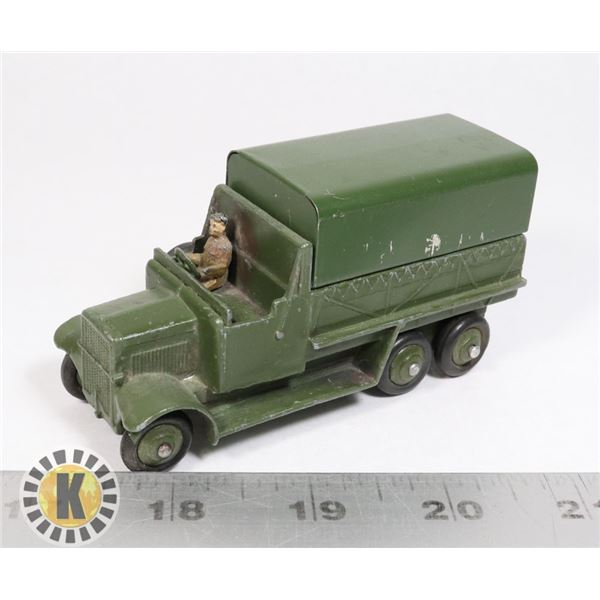 #7 DINKY TOYS #151B 6-WHEELED COVERED WAGON