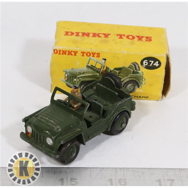 #51  BOXED DINKY TOYS #674 AUSTIN CHAMP MILITARY