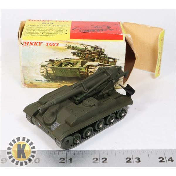#54  BOXED DINKY TOYS #813 CANON DE 155 AUTOMOTEUR