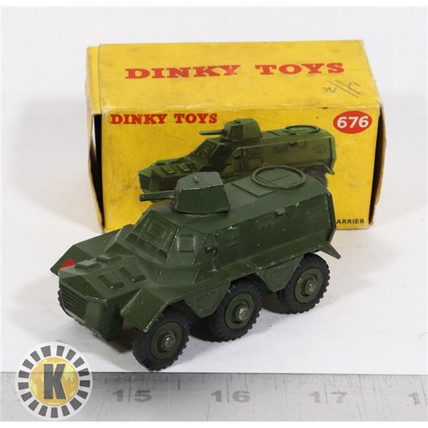 #55  BOXED DINKY TOYS #676 ARMOURED PERSONNEL