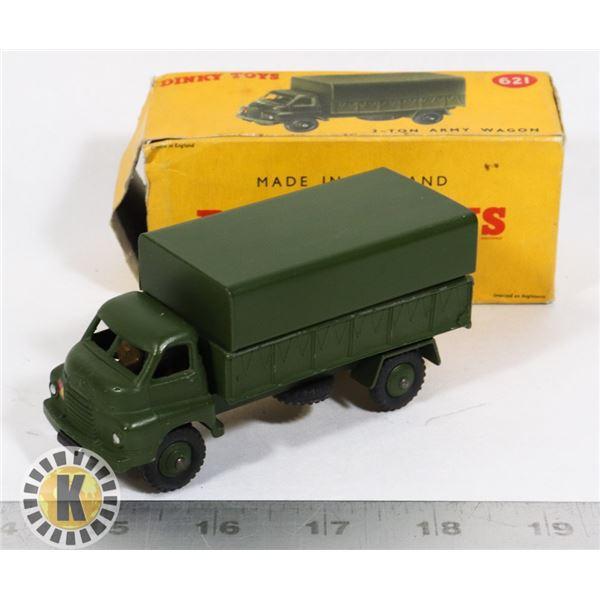 #58  BOXED DINKY TOYS #621 3-TON ARMY WAGON