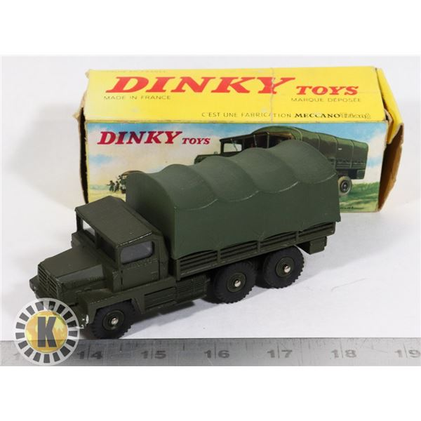 #59  BOXED DINKY TOYS #824 CAMION MILITAIRE
