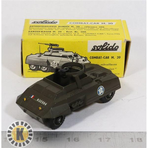 #74  BOXED SOLIDO DIECAST #200 COMBAT CAR M20