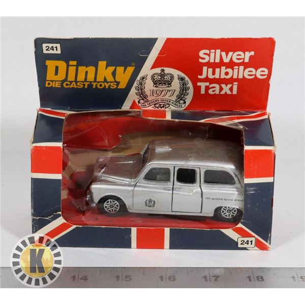 #97  BOXED DINKY TOYS #241 SILVER JUBILEE TAXI