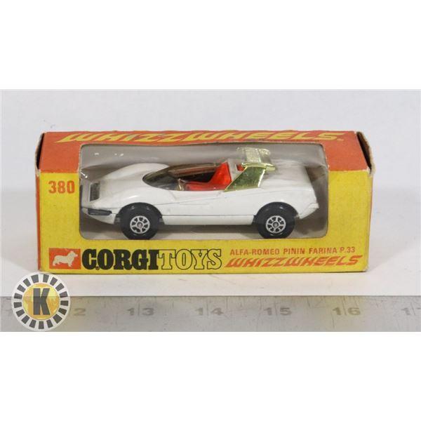 #115  BOXED CORGI TOYS WHIZZWHEELS #380 ALFA=ROMEO