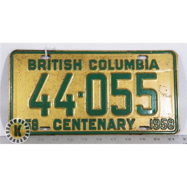 #149   BRITISH COLUMBIA B.C. 1858-1958 CENTENARY