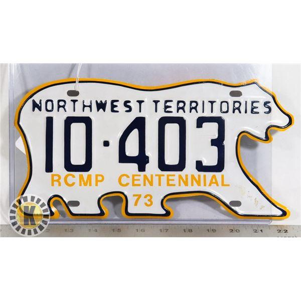 #191 RARE NORTHWEST TERRITORIES 1973 RCMP