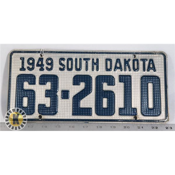 #195 U.S.A. AMERICAN LICENCE PLATE 1949 SOUTH