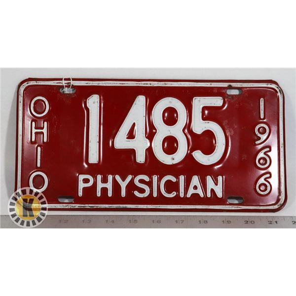 #199  U.S.A. AMERICAN LICENCE PLATE PHYSICIAN