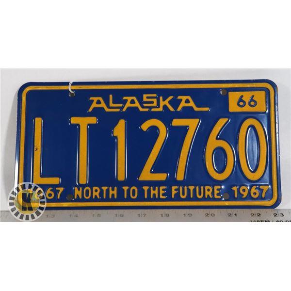 #200  U.S.A. AMERICAN LICENCE PLATE ALASKA STATE