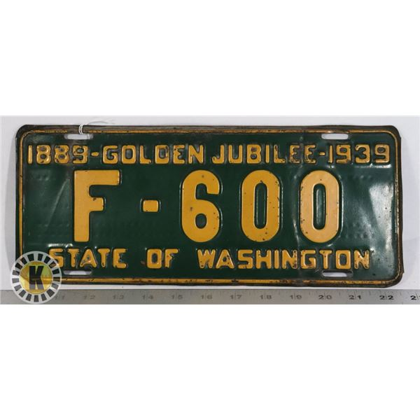 #206  RARE  U.S.A. AMERICAN LICENCE PLATE 1889
