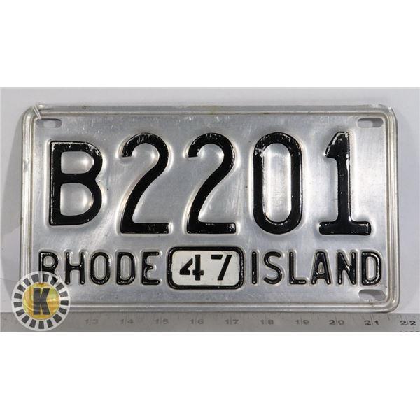 #207  RARE U.S.A. AMERICAN LICENCE PLATE 1947