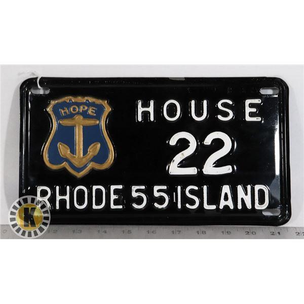 #208  RARE U.S.A. AMERICAN LICENCE PLATE 1955
