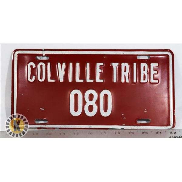 #209  RARE U.S.A. AMERICAN LICENCE PLATE COLVILLE