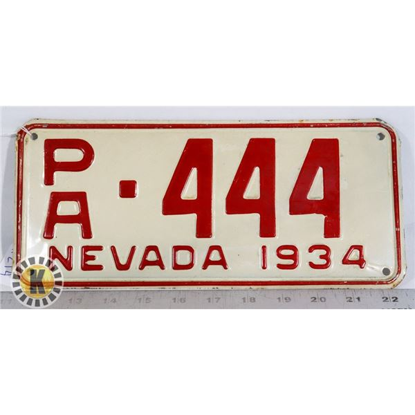 #214 RARE U.S.A. AMERICAN LICENCE PLATE 1934