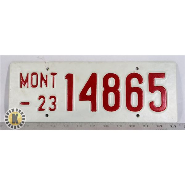 """#223 RARE MOVIE PROP LICENCE PLATE FROM """"LEGENDS"""