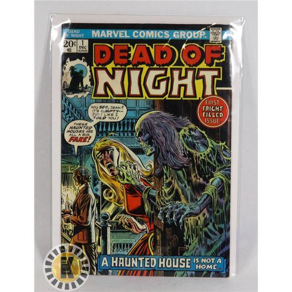 #238  MARVEL COMICS DEAD OF NIGHT #1 1973 HORROR