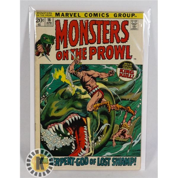 #240  MARVEL COMICS MONSTERS ON THE PROWL #16 1ST