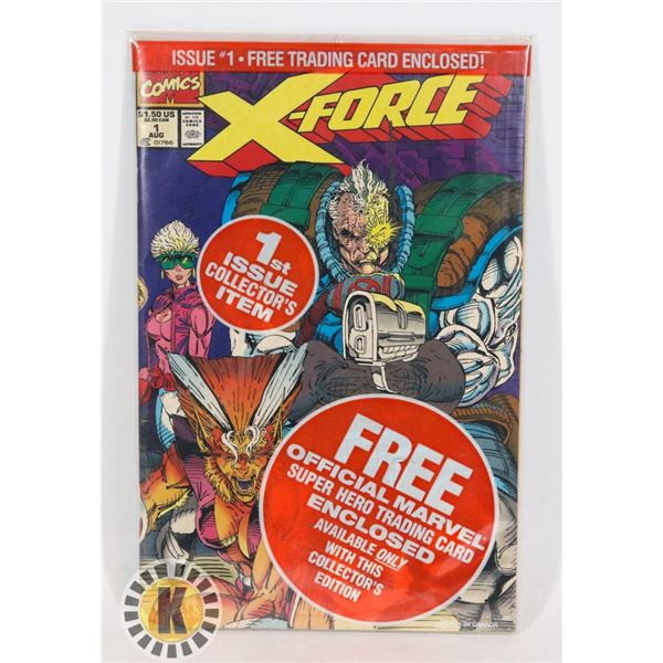 #269 MARVEL COMICS X-FORCE #1 IN BAG WITH CARD 1