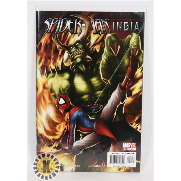 #325  MARVEL COMICS SPIDER-MAN INDIA #4 DIRECT