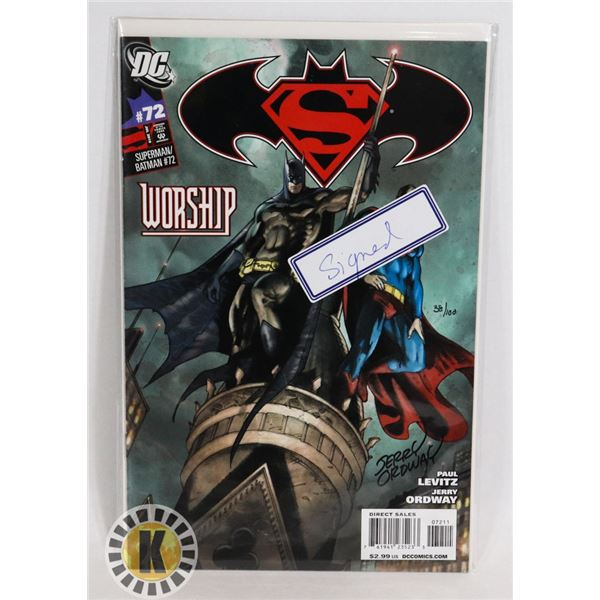 #338  SIGNED W/ COA CERTIFICATE OF AUTHENTICITY