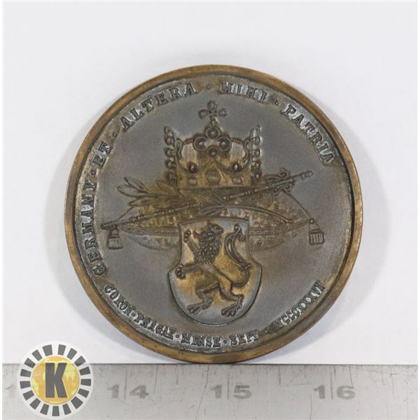 #356 LARGE REPRODUCTION TABLE MEDAL CORONATION OF