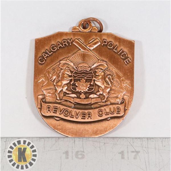 #358 CALGARY POLICE REVOLVER CLUB MEDAL