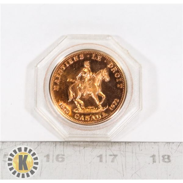 #359 1873 1973 ROYAL CANADIAN MOUNTED POLICE COIN