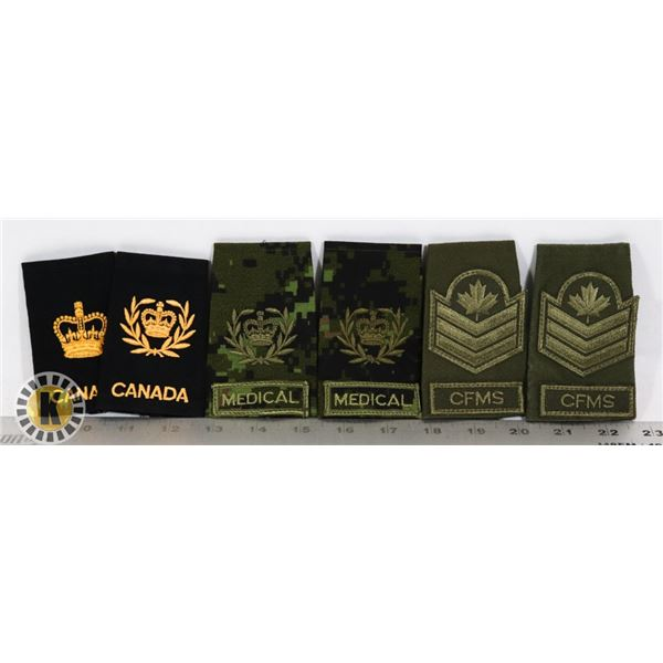 #366  LOT OF 6 CANADIAN MILITARY ARMY UNIFORM