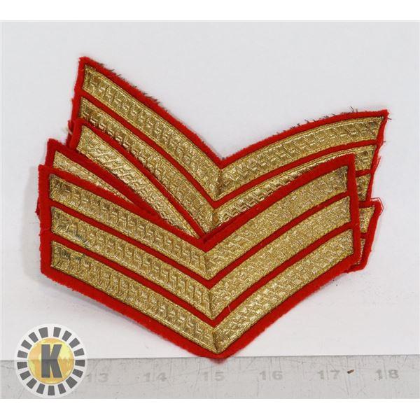 #371  LOT OF 4 VINTAGE CANADIAN ARMY CHEVRON RANK