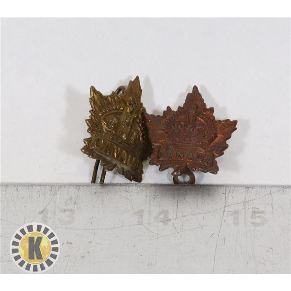 #381  LOT OF 2 WW1 CANADIAN CEF SHOULDER TITLE