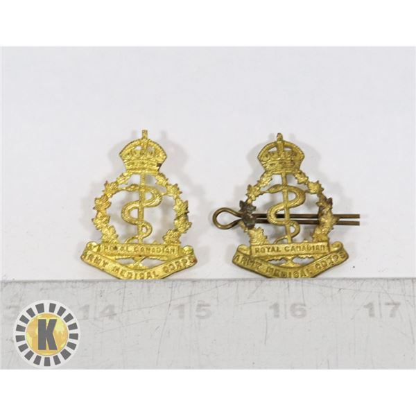 #388 LOT OF 2 ROYAL CANADIAN ARMY MEDICAL CORPS