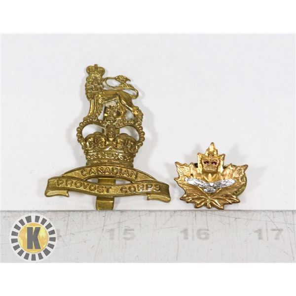 #393 LOT OF 2 ASSORTED CANADIAN PROVOST CORPS ARMY