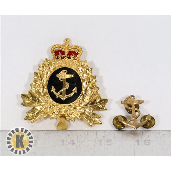 #397  LOT OF 2 CANADIAN MILITARY NAVY INSIGNIA