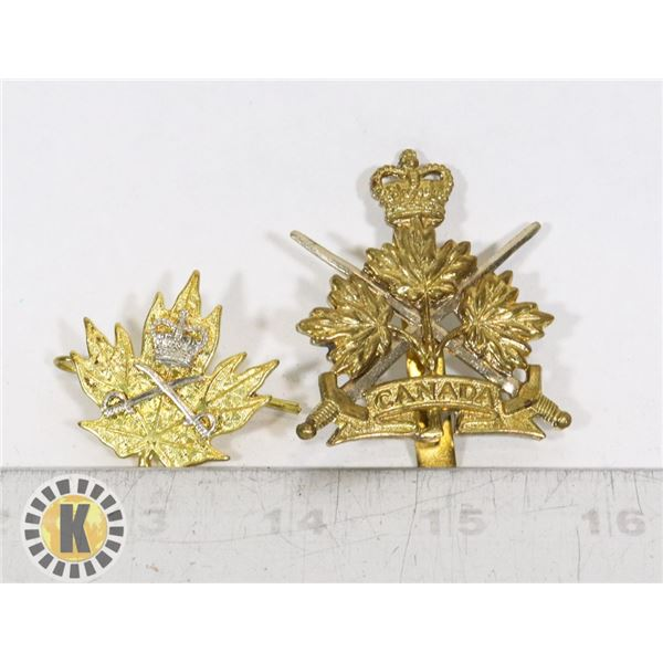 #398 LOT OF 2 CANADIAN MILITARY ARMY INSIGNIA B