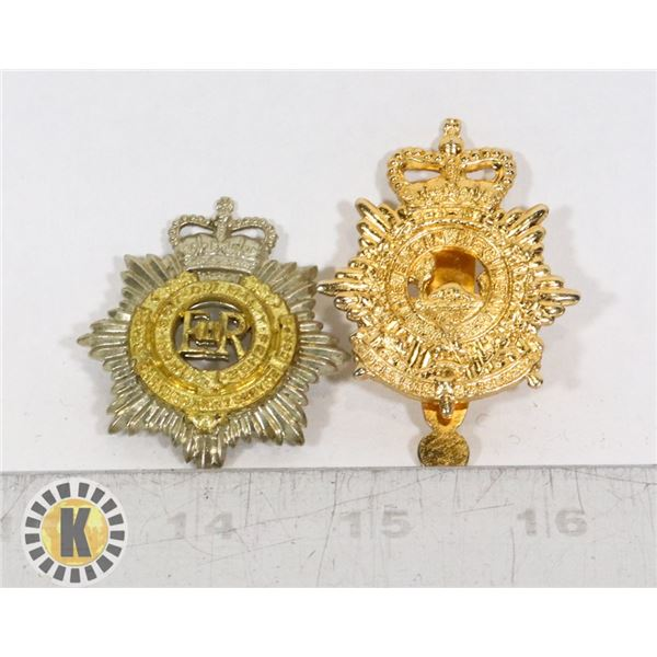 #403 LOT OF 2 CANADIAN MILITARY INSIGNIA BADGES