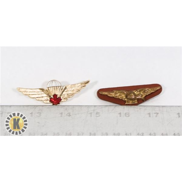 #411 LOT OF 2 WW2 CANADIAN RCAF AIR FORCE INSIGNIA