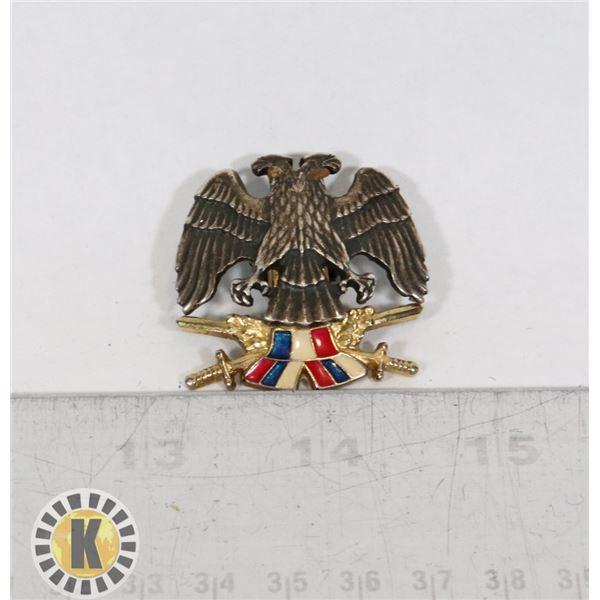 #420 SERBIAN ARMY BADGE INSIGNIA EAGLES